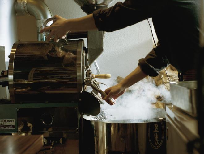 焙煎機と焙煎方法