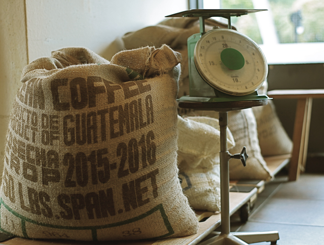 豆の管理体制